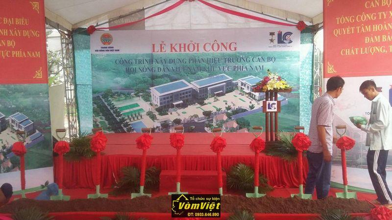 Lễ khởi công - Công trình xây dựng phân hiệu trưởng cán bộ hội nông dân Việt Nam - H7