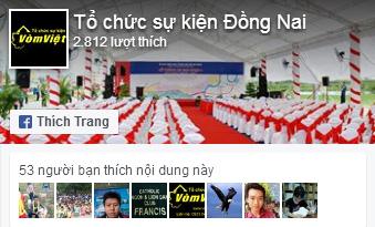 Tổ chức sự kiện Đồng Nai Facebook Fan Page