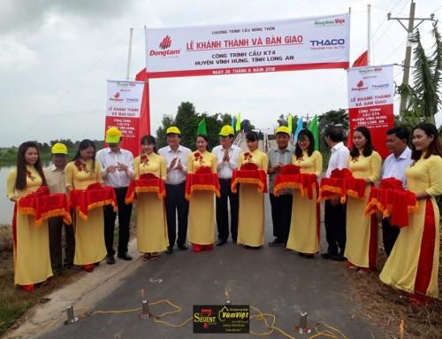 Lễ Khánh Thành – Các Công Trình Cầu Nông Thôn Huyện Vĩnh Hưng Tỉnh Long An