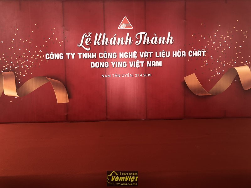 Lễ Khánh Thành – Công Ty TNHH Công Nghệ Vật Liệu Hóa Chất DONG YING VIỆT NAM